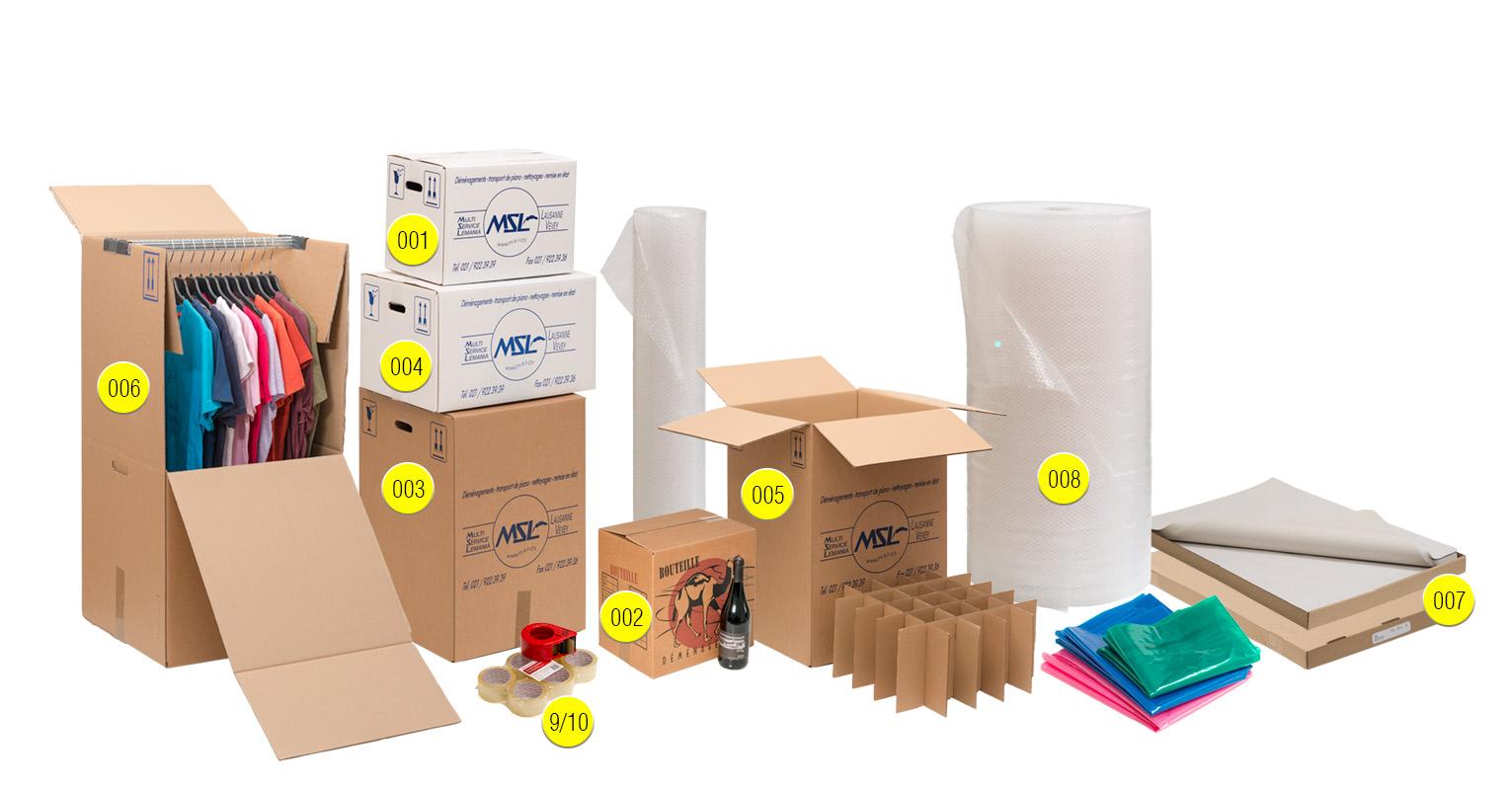 Quel matériel de déménagement est nécessaire ?